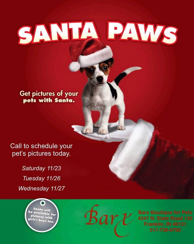 barx boutique pet pictures with santa